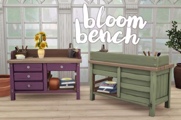 Hamburgercakes: Bloom Bench