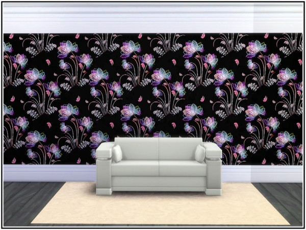 The Sims Resource: Rainbow Fantasy Wall by marcorse