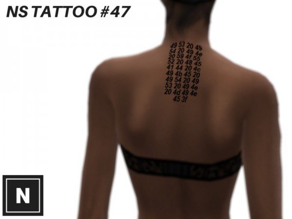 The Sims Resource: Tattoo set 77   ENCODED by networksims