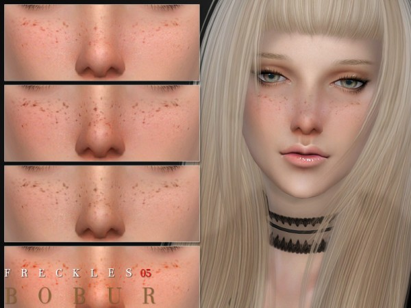 The Sims Resource: Freckles 05 by Bobur3