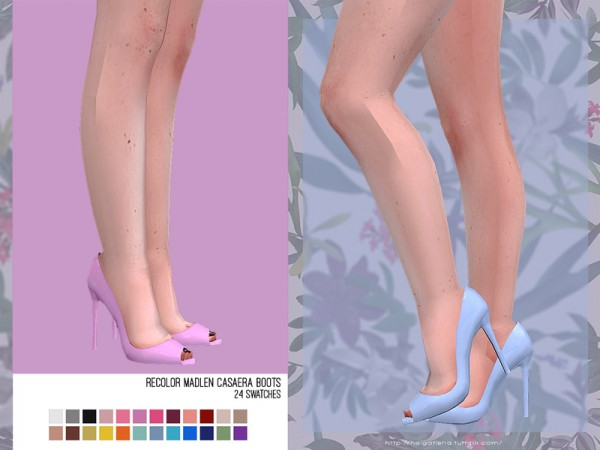 The Sims Resource: Madlen`s Umbria Shoes recolored by HelgaTisha