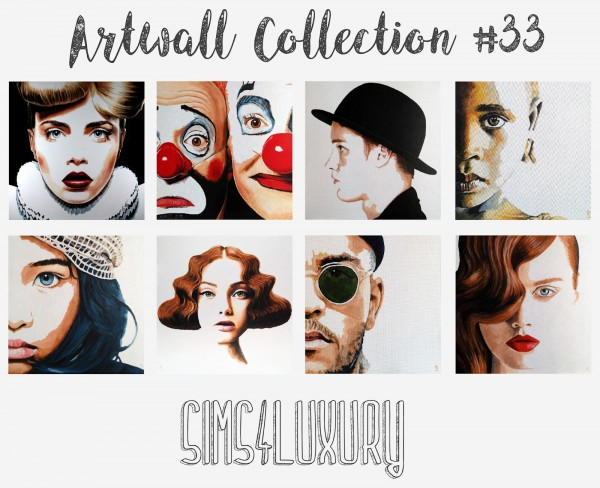 Sims4Luxury: Artwall Collection 33