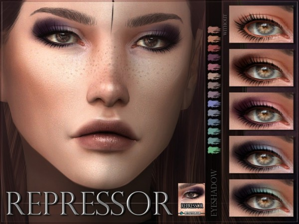 The Sims Resource: Repressor Eyeshadow by RemusSirion
