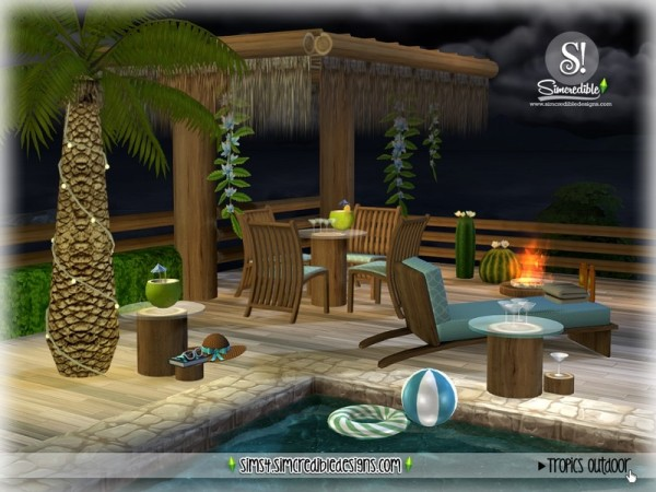 The Sims Resource: Tropics outdoor by SIMcredible!