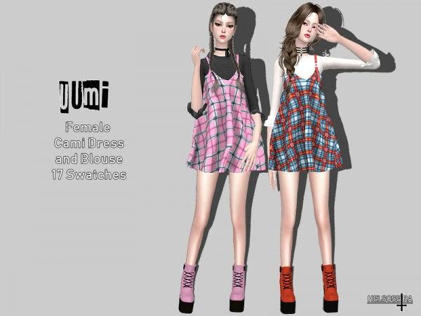 The Sims Resource: UUMI   Cami Dress Blouse by Helsoseira