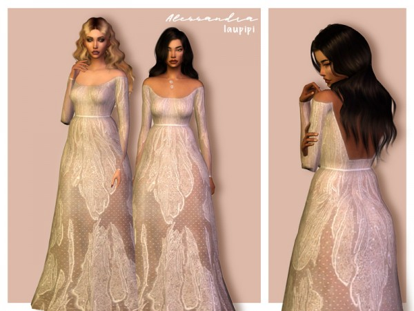 The Sims Resource: Alessandra dress by Laupipi