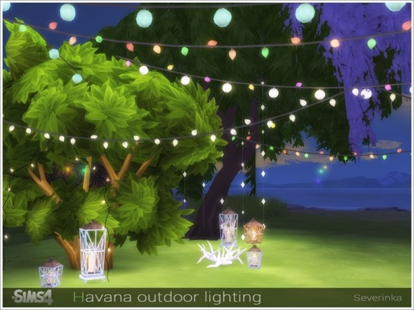The Sims Resource: Havana outdoor lighting by Severinka