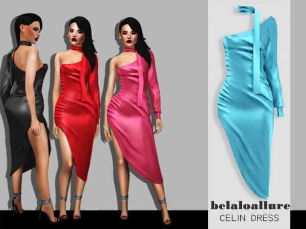 The Sims Resource: Celin dress by belal1997