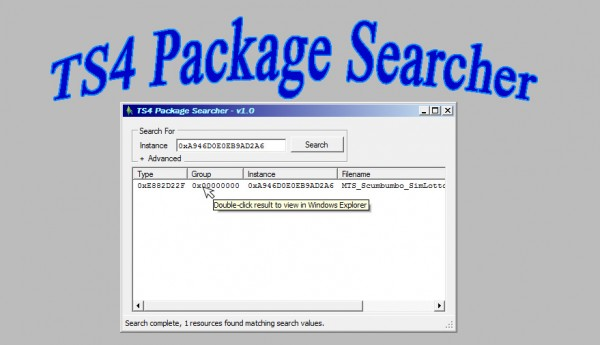 Mod The Sims: Package Searcher Windows Only by scumbumbo
