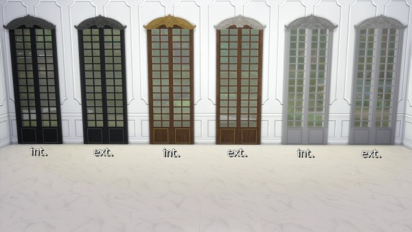 Mod The Sims: Dark Lux Curtains and Windows by TheJim07
