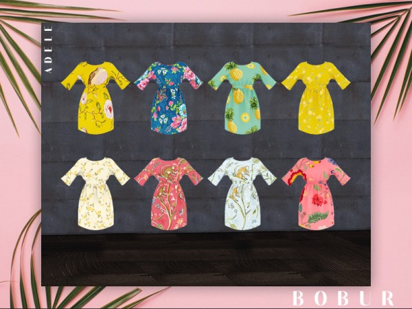 The Sims Resource: Adele dress by Bobur