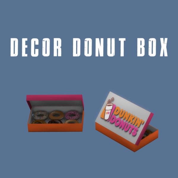 Leo 4 Sims: Donut box