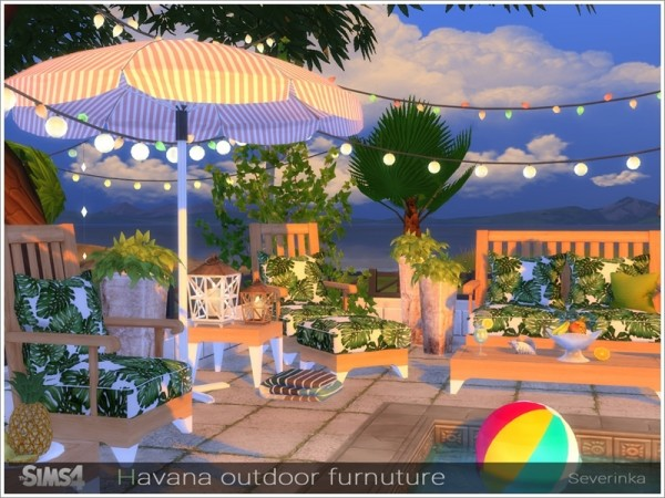 The Sims Resource: Havana outdoor furniture by Severinka