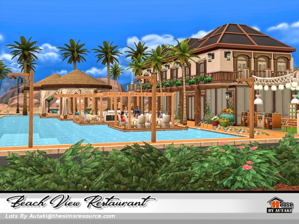 The Sims Resource: Beach View Restaurant by Autaki