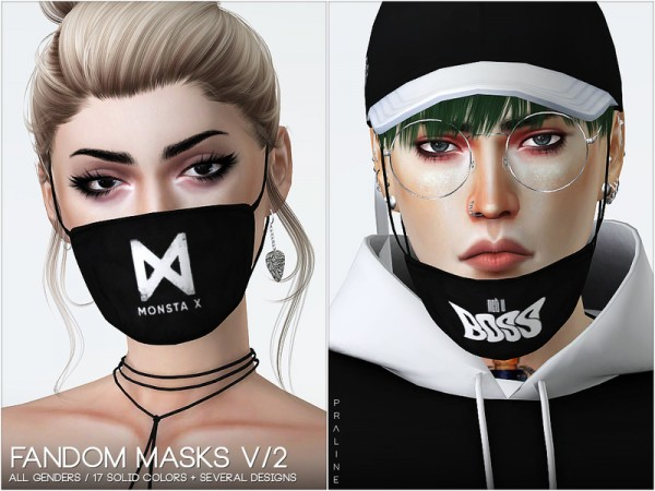 The Sims Resource: Fandom Masks V/2 by Pralinesims