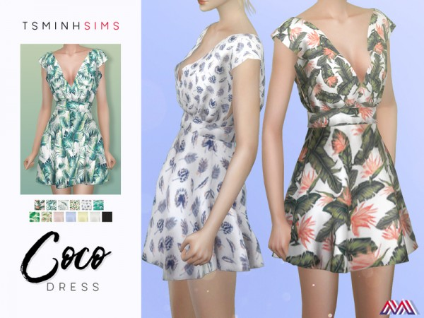 The Sims Resource: Coco Dress by TsminhSims