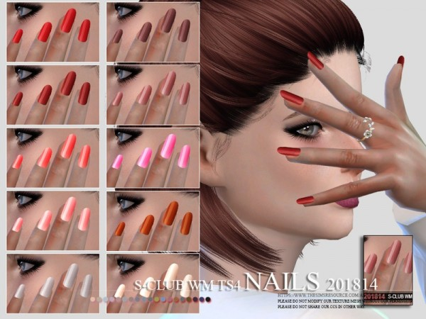The Sims Resource: Nails 201814 by S Club