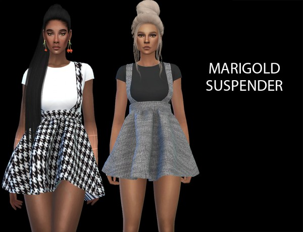 Leo 4 Sims: Marigold`s Suspender dress recolored