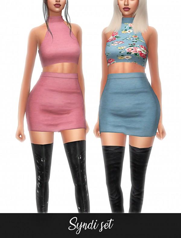 Frost Sims 4: Syndi set