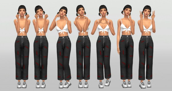 Simsworkshop: Aegyo 6 poses by catsblob