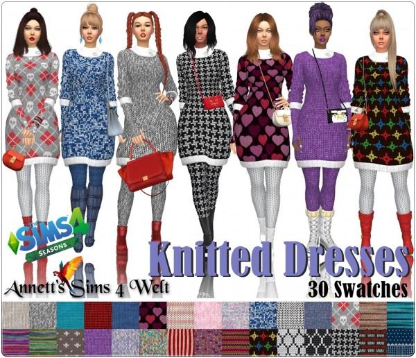 Annett`s Sims 4 Welt: Knitted Dress Seasons