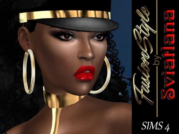 Fusion Style: Earrings metal hoops by Sviatlana