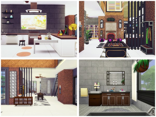 The Sims Resource: A luxurious loft by Danuta720
