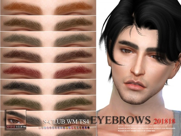 The Sims Resource: Eyebrows 201818 by S Club