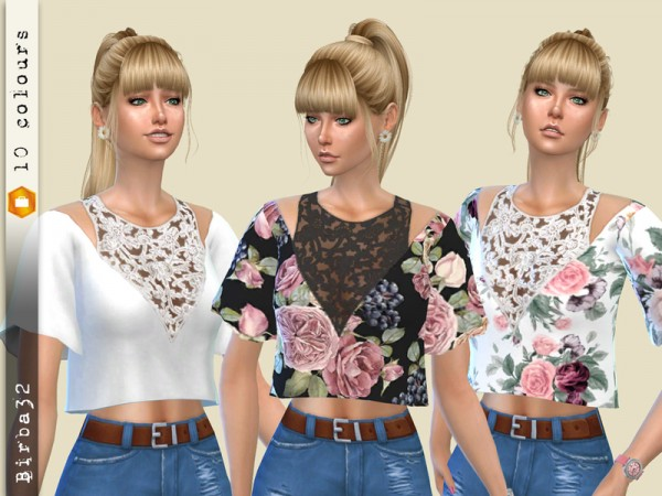 The Sims Resource: Amanda Top by Birba32