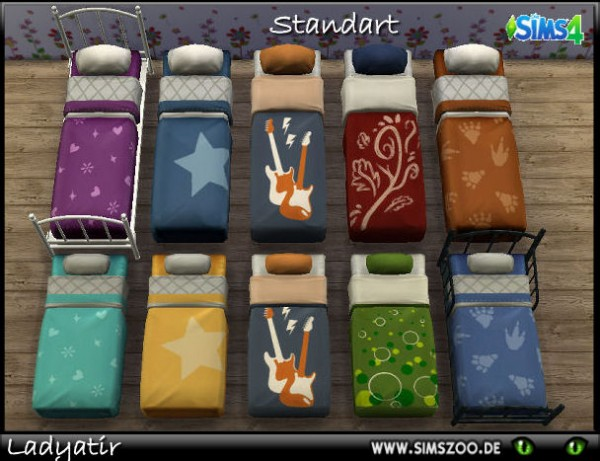 Blackys Sims 4 Zoo: Standard bed by ladyatir
