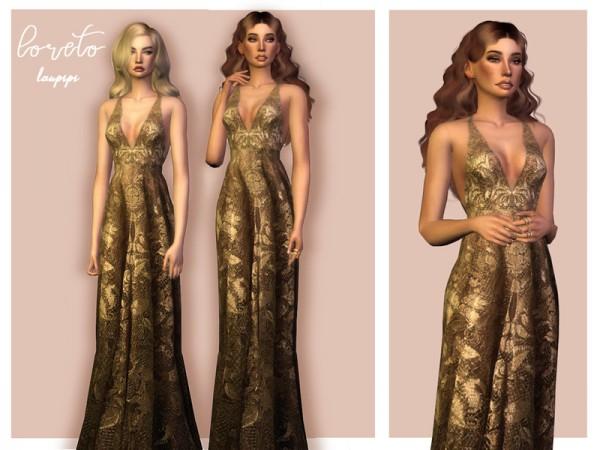 The Sims Resource: Loreto dress by laupipi