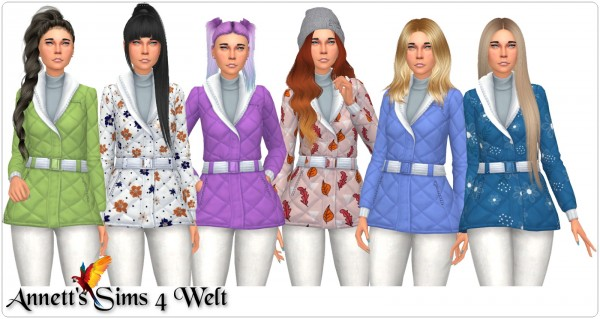 Annett`s Sims 4 Welt: Winter Jacket   Recolors