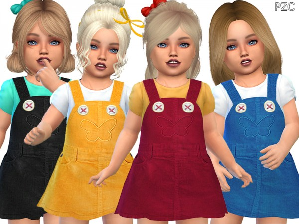 The Sims Resource: Fall Dress For Toddler Girls by Pinkzombiecupcakes