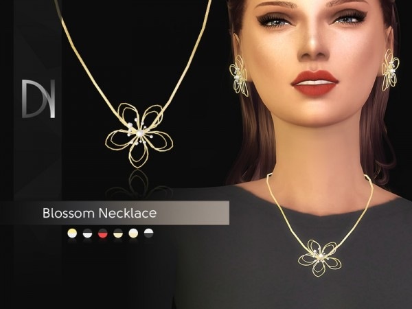 The Sims Resource: Blossom Necklace by DarkNighTt