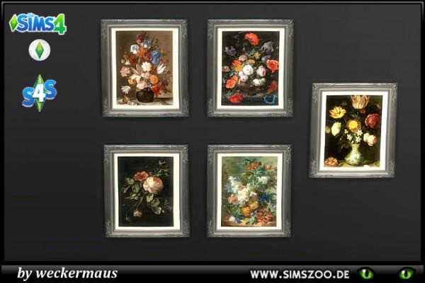 blackys sims 4 zoo flower arrangements paints by weckermaus sims 4 downloads. Black Bedroom Furniture Sets. Home Design Ideas