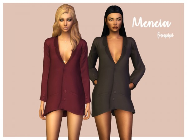 The Sims Resource: Mencia dress by laupipi
