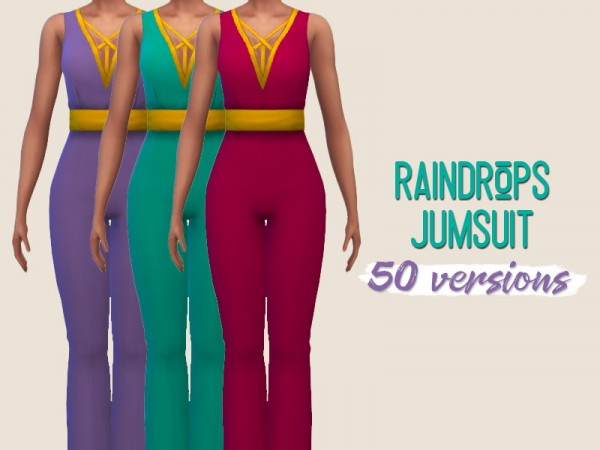 Simsworkshop: Raindrops Jumpsuit by midnightskysims