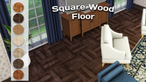 Simming With Mary: Square Wood Floor
