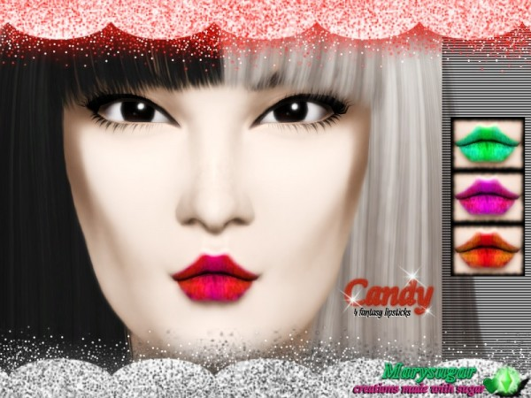 The Sims Resource: Candy Lips by Marysugar