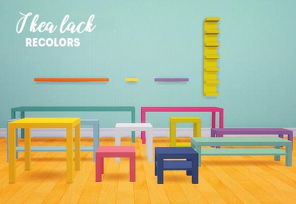 LinaCherie: IKEA lack recolors