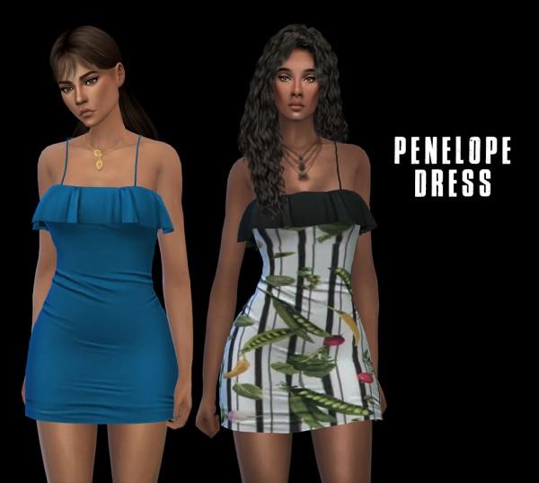 Leo 4 Sims: Penelope Dress recolored