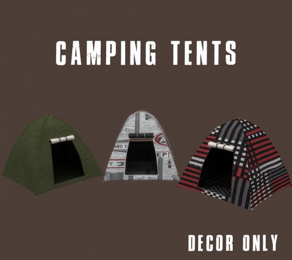 Leo 4 Sims: Camping Tents