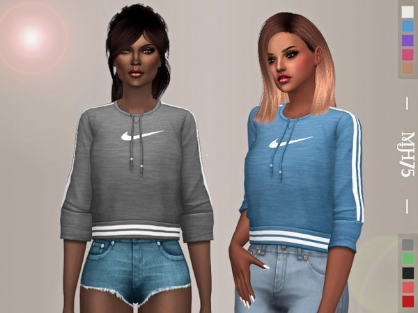 The Sims Resource: Casual Sports Top by Margeh 75