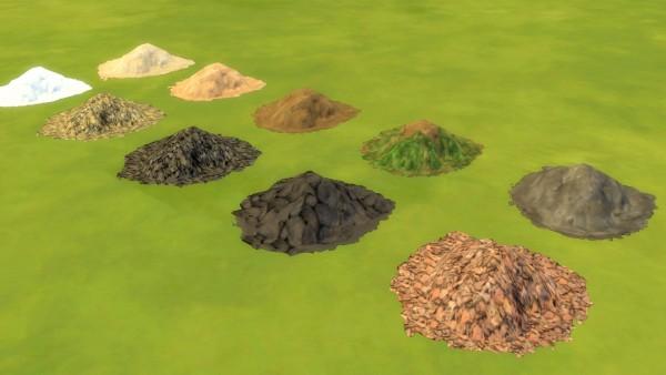 Mod The Sims: Diggables: Interactive Terrain Mounds by Snowhaze