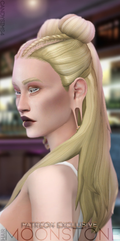 Candy Sims 4: Moonstone hair retextured
