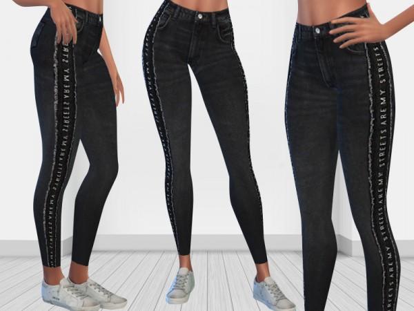 The Sims Resource: Mango Texto Skinny Fit Jeans by Saliwa