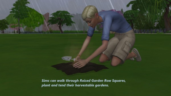 Mod The Sims: Farm and Orchard: Raised Row Gardening Soil Squares by Snowhaze