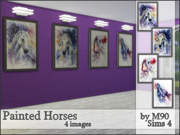 The Sims Resource: Painted Horses by Mircia90