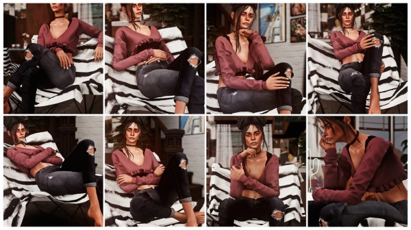 "Andromeda Sims: ""GET COMFY""   a chair pose pack"