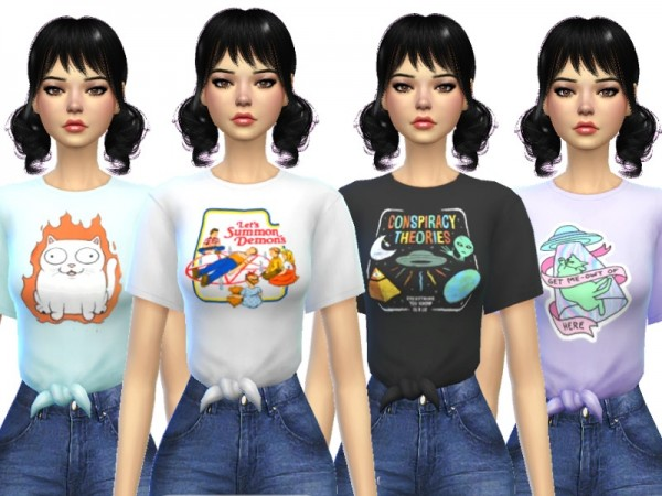 The Sims Resource: Tied Tees by Wicked Kittie